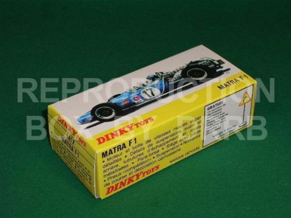 French Dinky. #1417 Matra F.1 - Reproduction Box